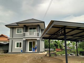 บ้านคุณเบียร์ อ.ท่าวังผา จ.น่าน:   by บ้านช่างใหญ่ บริการรับสร้างบ้าน จ.น่าน (รัชนีก่อสร้าง)