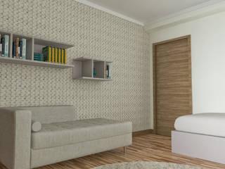 Projecto em 3D: Quartos  por MY STUDIO HOME - Design de Interiores