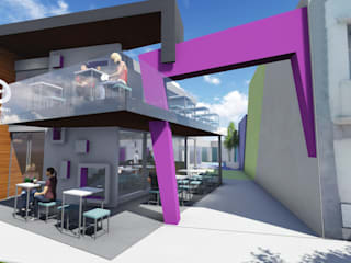 Locales Comerciales: Escaleras de estilo  por Estudio A+I,Moderno