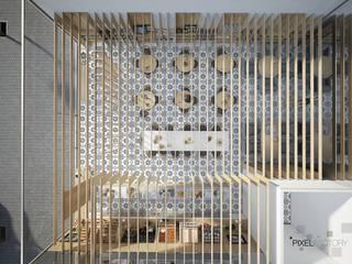 15_3D // LUSITANIA DUBAI // PORTUGUESE FINE PASTRY AND SHOP por marcocapela.pt Minimalista