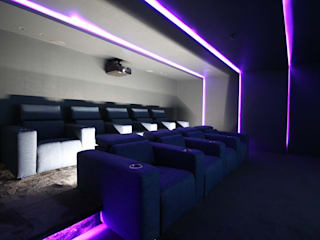 Home Cinema por HOME Technology Designers Minimalista