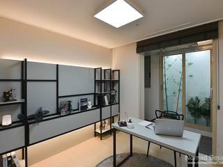 부산 모던 캐주얼 15평 아파트(3): 노마드디자인 / Nomad design의  서재 & 사무실