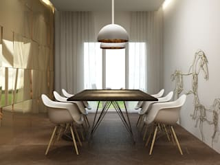 Apartment at Napeansea Road Minimalist dining room by Ashleys Minimalist
