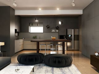 Apartment over looking the Sea Minimalist kitchen by Ashleys Minimalist