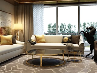 Show flat Modern living room by Ashleys Modern