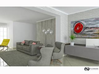 Projecto em 3D : Salas de estar  por MY STUDIO HOME - Design de Interiores