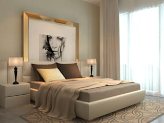 master bedroom : modern Bedroom by  Ashleys