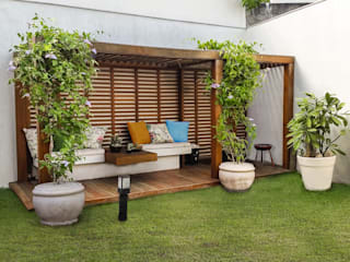 Jardines de invierno de estilo moderno de Cláudio Maurício e Paulo Henrique Moderno