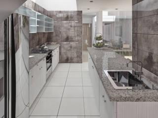 Vivienda unifamiliar 2: Cocinas de estilo  por TECTONICA STUDIO SAC