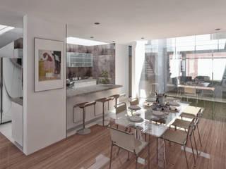 Vivienda unifamiliar 2: Comedores de estilo  por TECTONICA STUDIO SAC