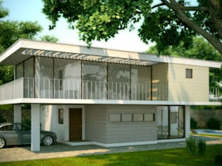 Casa San Martin: Casas unifamiliares de estilo  por Castañeda Arquitectos Ltda