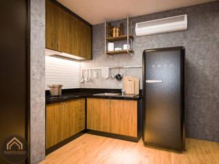 Diameter Design Ruang Makan Gaya Eklektik Beton Black