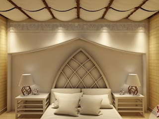 Project Guest House @HauzKhasVillage by MAD DESIGN:  Bedroom by MAD DESIGN