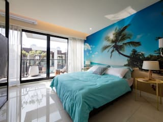 木皆空間設計 Tropical style bedroom
