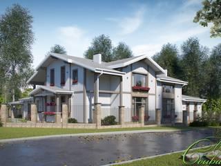 Maisons scandinaves par Компания архитекторов Латышевых 'Мечты сбываются' Scandinave