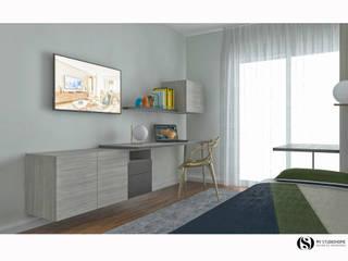 Desenho 3D: Quartos  por MY STUDIO HOME - Design de Interiores