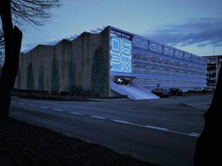 Garaż wielopoziomowy.: styl , w kategorii  zaprojektowany przez 05PM-ARCHITEKT