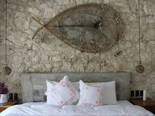 CO-TA ARQUITECTURA Rustic style bedroom