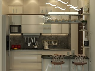 5BHK PROJECT @PRATEEK STYLOME BY MAD DESIGN:  Kitchen by MAD DESIGN