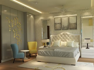 5BHK PROJECT @PRATEEK STYLOME BY MAD DESIGN:  Bedroom by MAD DESIGN