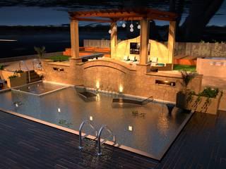 Create Your Garden Design or Backyard 3D Nowoczesny basen od Malek Almsri Nowoczesny