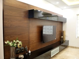 3BHK Interiors at Kalyani Nagar, Pune Modern living room by Finch Architects Modern
