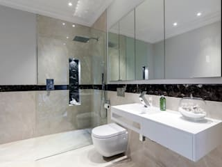 Case Study: New Lodge, Fulham モダンスタイルの お風呂 の BathroomsByDesign Retail Ltd モダン