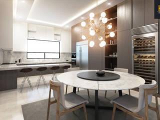 Residencia Contry II: Cocinas de estilo  por HZH Arquitectura & Diseño