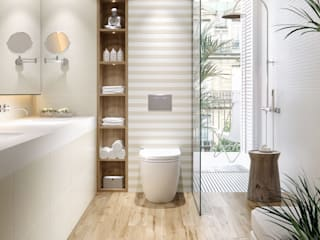 Casa de banho tons suaves por Lizmundo Salas de Banho e Cozinha Moderno