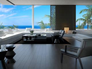 Ambiente acolhedor em madeira ceramica por Lizmundo Salas de Banho e Cozinha Moderno