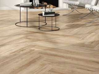 Elegancia e conforto num pavimento de porcelanico a imitar madeira : Pavimentos  por Lizmundo Salas de Banho e Cozinha