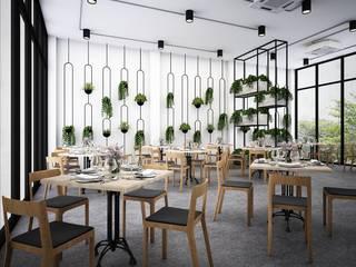 Ruang Makan oleh Zero field design studio, Industrial