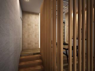 Escaleras de estilo  por Zero field design studio, Industrial