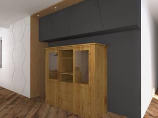 Remont kuchni i jadalni Nowoczesna jadalnia od BOOM studio Nowoczesny