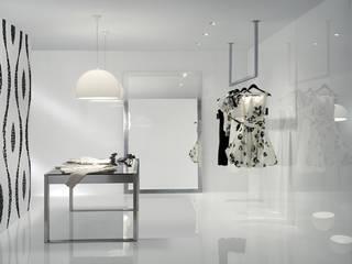 Espaços comerciais com acabamento brilhante e perfeito: Lojas e espaços comerciais  por Lizmundo Salas de Banho e Cozinha
