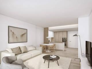 Liberdade 40 - Avenue Salas de estar modernas por Onstudio Lda Moderno