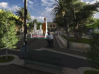 Plaza y Fuerte del General Galeana: Espacios comerciales de estilo  por DAECO