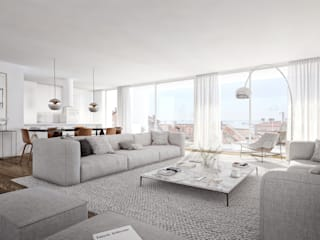 Montrose - Estoril Capital Partners Salas de estar modernas por Onstudio Lda Moderno