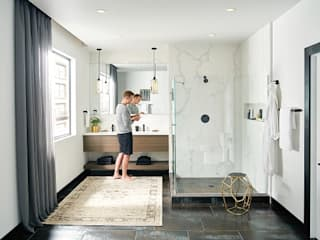 Espacios que impactan-Logra un cuarto de baño moderno y elegante :  de estilo  por VAP ARQUITECTOS