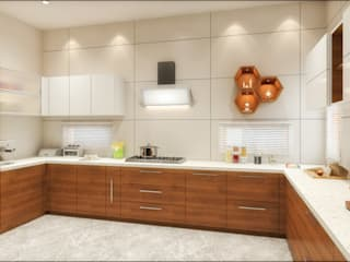 3d view of kitchen by Square Designs Modern Plywood