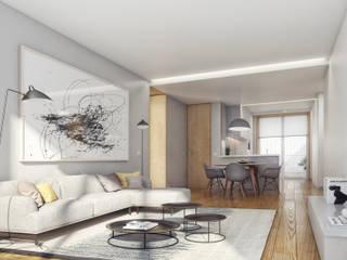 Santos Design - Stone Capital Salas de estar modernas por Onstudio Lda Moderno