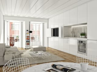 São Vicente 44 - Stone Capital Cozinhas modernas por Onstudio Lda Moderno