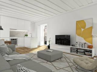 São Vicente 44 - Stone Capital Salas de estar modernas por Onstudio Lda Moderno