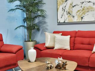 Ruang Keluarga Modern Oleh PORTO Arquitectura + Diseño de Interiores Modern