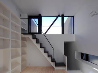 屋上バルコニーからの採光: 石川淳建築設計事務所が手掛けたベランダです。