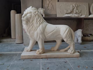 Lion Sculpture:   by Altegic Ecomtrading Pvt. Ltd
