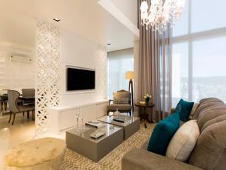 RESIDENCIAL 11: Salas de estar  por Apê 102 Arquitetura,Moderno MDF