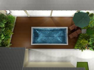 Bloco Z Arquitetura Kolam Renang Modern