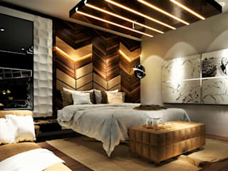 5BHK Villa, Undri Modern style bedroom by Design Evolution Lab Modern