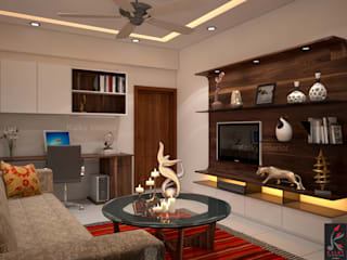 Living room:   by kalky interior